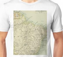 Old map of Brazil Unisex T-Shirt