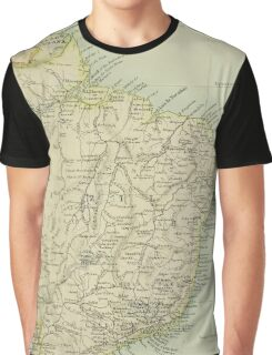 Old map of Brazil Graphic T-Shirt