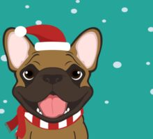 Frenchie Waiting for Santa - Fawn Edition Sticker