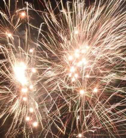 Fireworks at night Sticker