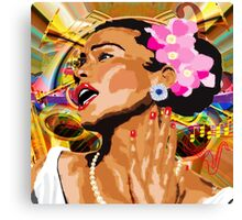 JAZZ SINGER Canvas Print