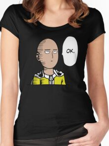 Saitama Ok Anime Manga Shirt Women's Fitted Scoop T-Shirt