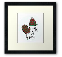 Winter Hat and Mittens Framed Print