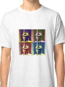 Leonard Cohen Portrait Pop Art Style Classic T-Shirt