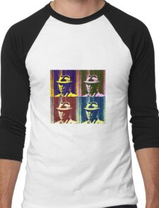 Leonard Cohen Portrait Pop Art Style Men's Baseball ¾ T-Shirt