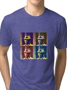 Leonard Cohen Portrait Pop Art Style Tri-blend T-Shirt