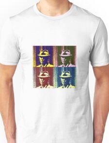 Leonard Cohen Portrait Pop Art Style Unisex T-Shirt