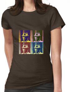 Leonard Cohen Portrait Pop Art Style Womens Fitted T-Shirt