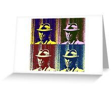 Leonard Cohen Portrait Pop Art Style Greeting Card