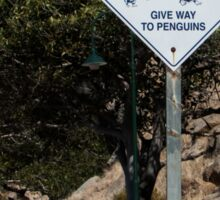 Give way to Penguins Sticker