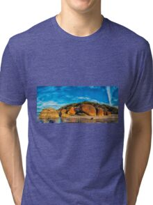 Squeaky Beach Panorama Tri-blend T-Shirt