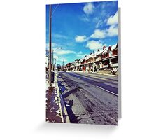 Winter Sun in West End Toronto Greeting Card
