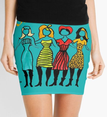 Four Sisters in Turquoise Mini Skirt