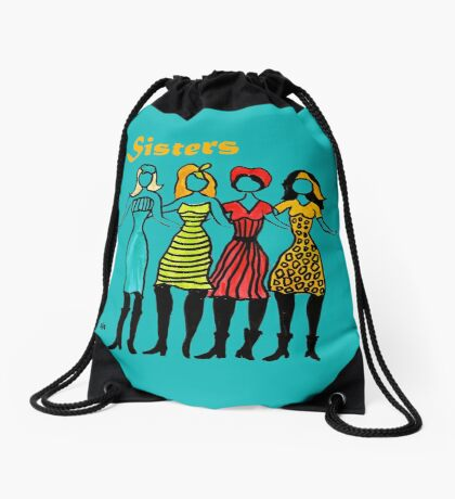 Four Sisters in Turquoise Drawstring Bag