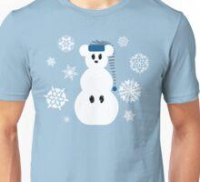 White Christmas Mouse Unisex T-Shirt