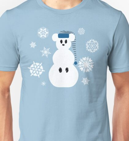 White Christmas Mouse Unisex T-Shirt