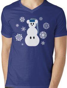 White Christmas Mouse Mens V-Neck T-Shirt