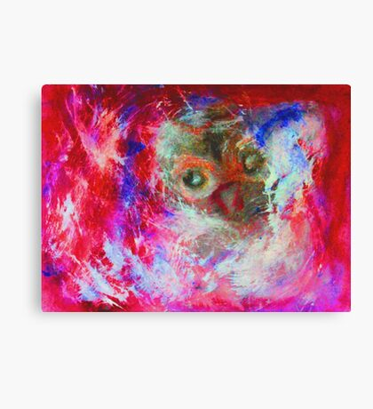 Abstract Owl Canvas Print