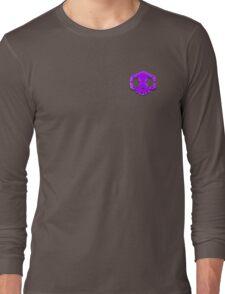 Purple Sombra Faded Skull Long Sleeve T-Shirt