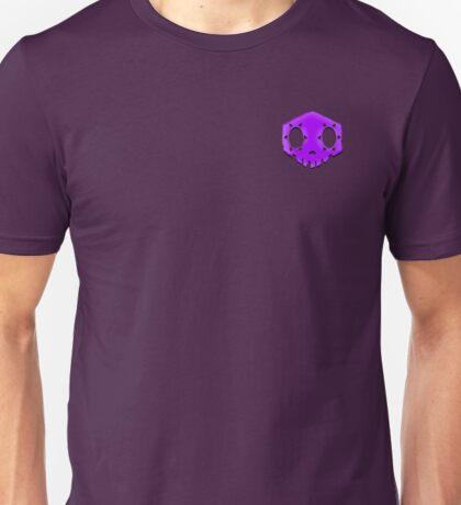 Purple Sombra Faded Skull Unisex T-Shirt