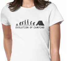 Camping Evolution Womens Fitted T-Shirt