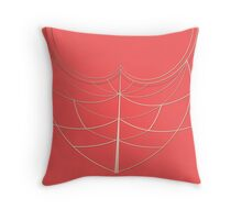 Golden Scarab Pattern Throw Pillow