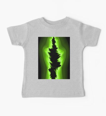 Green and black fractals Baby Tee
