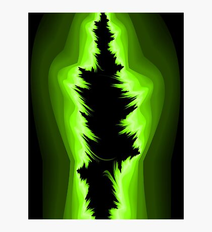 Green and black fractals Photographic Print