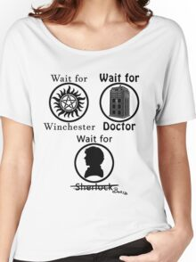 SuperWhoLock - Black Women's Relaxed Fit T-Shirt