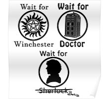 SuperWhoLock - Black Poster