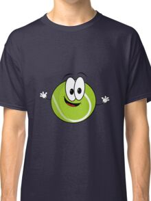 Happy cartoon tennis ball character Classic T-Shirt