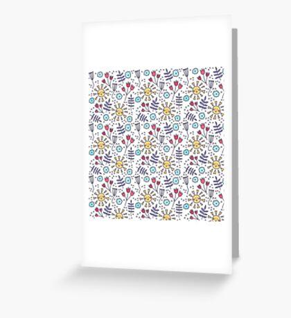fun kids pattern Greeting Card