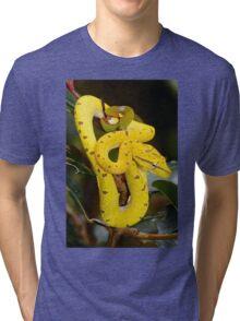Baby Green Python Tri-blend T-Shirt