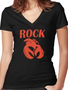B52 Rock Lobster Retro Black T-shirt Sz S M L XL Women's Fitted V-Neck T-Shirt