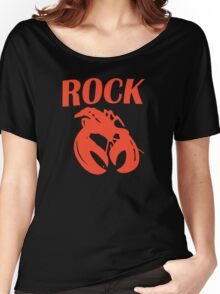 B52 Rock Lobster Retro Black T-shirt Sz S M L XL Women's Relaxed Fit T-Shirt