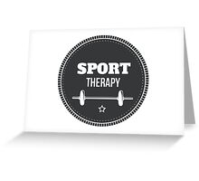 Sport Therapy Greeting Card