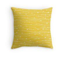 yellow spider web pattern Throw Pillow