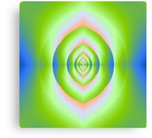 Green Pink and Blue Labyrinth Cave Canvas Print