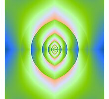 Green Pink and Blue Labyrinth Cave Photographic Print