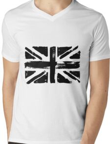 UK painted flag Mens V-Neck T-Shirt