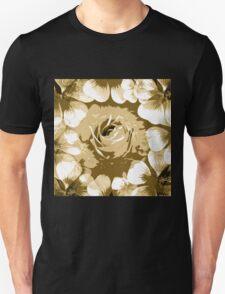 Antique White Rose Unisex T-Shirt