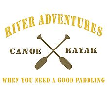 River Adventure Funny Photographic Print