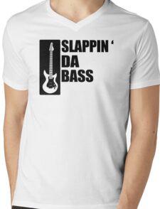 Bass Guitar Funny Music T-Shirt Slappin Da Bass T-Shirt Gifts for Dad Screen Printed T-Shirt Tee Shirt T Shirt Mens Ladies Womens Youth Kid Mens V-Neck T-Shirt