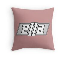 Ella ambigram Throw Pillow
