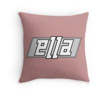 Ella ambigram Throw Pillow