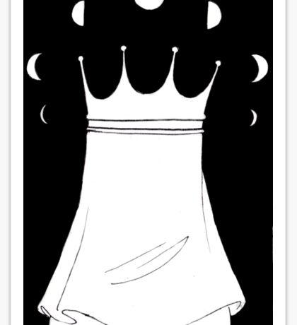Inktober Day 18 - The Moonlit Crown Sticker