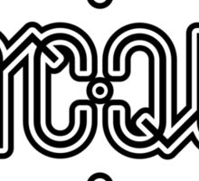 Jacqui ambigram Sticker