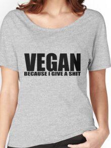 Vegan - black Women's Relaxed Fit T-Shirt