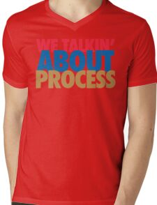 We Talkin' About Process?! (Red/Blue/Gold) Mens V-Neck T-Shirt