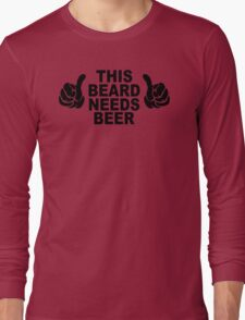Beard t shirt funny t shirt beer tshirt cool shirt mens tshirt austin texas (also available on crewneck sweatshirts and hoodies) SM-5XL Long Sleeve T-Shirt